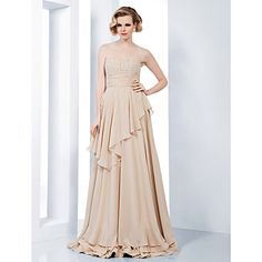 Empire+Sheath/Column+Sweetheart+Floor-length+Chiffon+Evening+Dress++–+USD+$+209.99