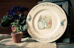 Vintage Beatrix Potter Peter Rabbit Plate by by TheUrbanBarn, $18.50 Etsy