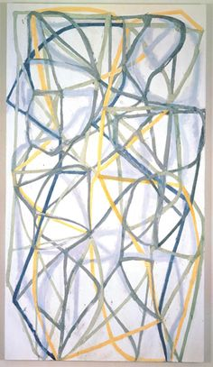 "Brice Marden, ""China Painting"" (1995-1996). Oil on linen. 71""× 32"". Courtesy of The Museum of Modern Art."