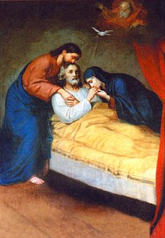 Jesus and Mary at the deathbed of St. Catholic Pictures, Jesus Pictures, Christian Images, Christian Art, Catholic Art, Catholic Saints, Religious Images, Religious Art, Rennaissance Art