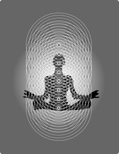 THE HUMAN BIOENERGY BLUEPRINT. From the perspective of quantum biology, the human body is a hologram composed of intersecting lines of bioenergy. The above figure shows how the vertical, light-processing chakras interface with the horizontal, sound-generated bioenergy fields to create the geometric matrix necessary for physical manifestation.