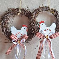 Easter Art, Easter Crafts, Easter Wreaths, Fall Wreaths, Diy Christmas Ornaments, Christmas Wreaths, Clay Crafts, Diy And Crafts, Wreath Crafts