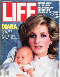 Princess Diana with baby Harry, 1984.  I think she'd be very proud of how her boys turned out.
