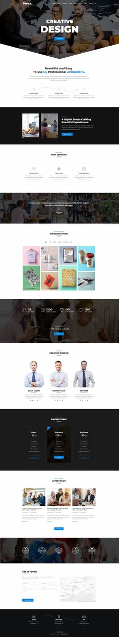 Proxa – One Page Parallax