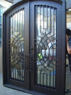 IRON DOOR made by DISENO FORJADO Wrought Iron Entry Doors starting at $60 PSF #DisenoForjadofromMonterreyMexico