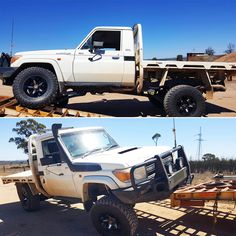 "A recent customer of ours fitted his 79 Series Cruiser with one of our very own Superior Remote Reservoir Superflex 3 Inch Lift Kit. This is the feedback he gave; ""Just wanted to say thanks again for the kit. It turned out pretty bloody good! Pick Up, Landcruiser Ute, Superior Engineering, Sick Puppies, 4x4 Accessories, Toyota 4x4, Lift Kits, 4x4 Trucks, Future Car"