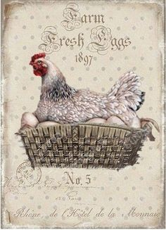 VK is the largest European social network with more than 100 million active users. Vintage Labels, Vintage Cards, Vintage Paper, Vintage Images, Decoupage Vintage, Decoupage Paper, Chicken Signs, Chicken Art, Chicken Crafts