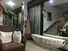Looking for a budget friendly accommodation in Cebu? Check out RE-CJC Pensionne House situated along the road in Basak, Mandaue City, Cebu. Cebu City, Extra Bed, Desk Areas, House Front, House Rooms, Sofa Bed, Ground Floor, Home Kitchens, Bean Bag Chair