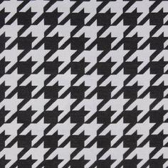 Black Houndstooth Polyester Brocade