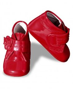 Baby Boot in red patent