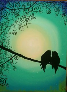2. Sweet Love Birds Silhouette.jpg (706×960)