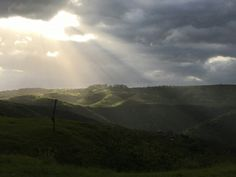 A break in the clouds over Transkei Hills