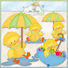 Rainy Day Ducks 1 - NE Kristi W. Designs Clip Art : Digi Web Studio, Clip Art, Printable Crafts & Digital Scrapbooking!