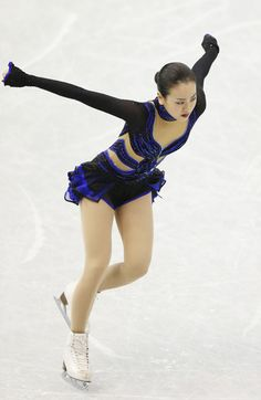 Mao Asada of Japan compete in the ladies's free skating during day three of the ISU Grand Prix of Figure Skating Final 2013/2014 at Marine M...