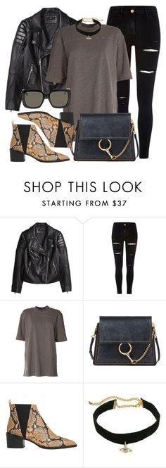 """""""Ego"""" by monmondefou ❤ liked on Polyvore featuring H&M, River Island, adidas Originals, Chloé, Whistles, Rebecca Minkoff, Gucci, casual and black"""