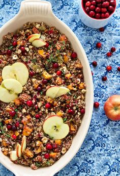 Quinoa Stuffing with Apple, Sweet Potato & Hazelnuts from Family Fresh Cooking @sanmeaders