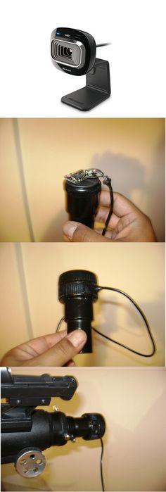Modificación de una cámara web para convertirla en una cámara para montar en el telescopio.