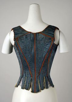 Bodice (18th century), Italian, cotton. And simply fabulous details & color. via the Met, MY