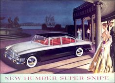 Humber 1959 Poster Ads, Motor Car, Automobile, British, Cars, Vehicles, 1940s, Advertising, History