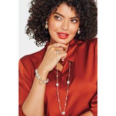 #Avon Celestial Starburst Long Necklace. Pop open the baubles and celebrate by shining bright. Infinity style necklace, Aqua-colored cats eye stones stationed along the chain with bezel set plastic rhinestones in between. Regularly $14.99. FREE shipping with any $40 online Avon purchase. #CJTeam #Style #Sale #Jewelry #Fashion #C24 #Celestial #Starburst #Necklace #Christmas #Gift #Modern #Avon4Me Shop Avon jewelry online @ www.TheCJTeam.com