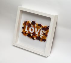 Unique Quilling Art Word Love Typography Quilled Paper Art Home Decor Bedroom…