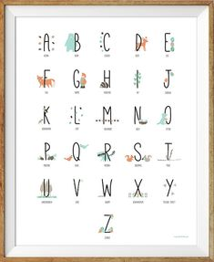 Woodland Alphabet Poster Abc Poster Woodland by LlamaCreation