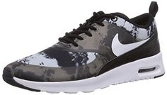 Nike Womens Air Max Thea Print BlackWhiteDark Grey Running Shoe 65 Women US >>> See this great product.