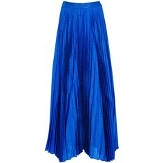 Alice + Olivia Katz Pleated Silk Blend Maxi Skirt - Size 10 ($630) ❤ liked on Polyvore featuring skirts, alice olivia skirt, maxi skirt, pleated maxi skirt, handkerchief hem skirt and alice olivia maxi skirt