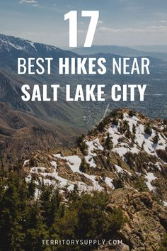 Discover 17 of the best hikes near Salt Lake City, which offers easy access to the beautiful Wasatch Mountains. Hiking is one of the best things to do in Utah! Salt Lake City Hikes, Salt Lake City Utah, Hiking Places, Hiking Spots, Lakes In Utah, Salt City, Girls Trips, Utah Adventures, Park City Utah