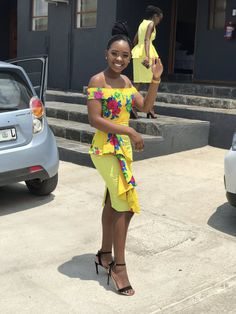 African Print Wedding Dress, African Wedding Attire, African Print Dresses, African Print Fashion, Africa Fashion, African Attire, African Wear, African Dress, Tsonga Traditional Dresses