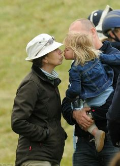 Princess Anne, Mike and Mia Tindall at Beaufort Polo Club. June 19 2016