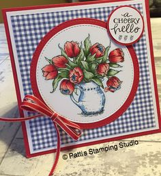 Power Poppy Loving Tulips  Patti's Stamping Studio