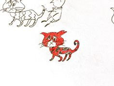 """Jazz Cat"" -vintage Jazz Cat drawing"