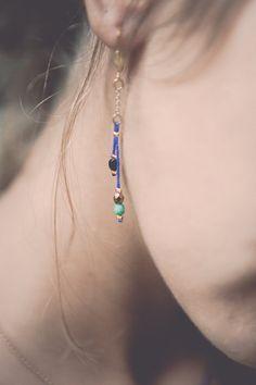 boucles d'oreilles contemporaines boucles par Cestbonpourcquetas, $25.00