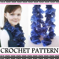 How to crochet a sashay ruffle scarf, Crochet Ruffle Scarf pattern, from Delight Crochet, https://www.etsy.com/listing/119575480/ruffle-scarf-pattern-how-to-crochet-a