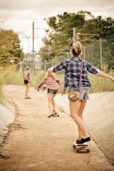 flannels, shorts, buns and vans :)