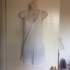 Maison Scotch Racerback Slub Tank From Nordstrom's  Size 2 New without tags!  100% Cotton Racerback. Bundle for discounts! Thank you for shopping my closet! Maison Scotch Tops Tank Tops