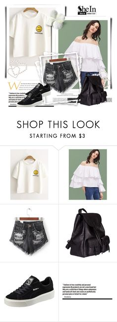 """Shein 8"" by ajisa-ikanovic ❤ liked on Polyvore featuring Yves Saint Laurent and Puma"