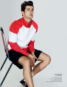 Sean O'Pry in Alexander Wang and Dior Homme for GQ Style Korea.