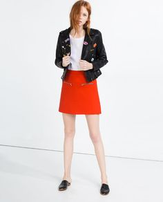 Image 1 of MINI SKIRT WITH ZIPS from Zara