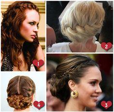 Braid wedding hair styles. Number 1 is my favorite!! :)