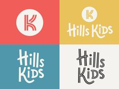 The Hills Nashville Brand Identity by Nate Farro Childrens Logo, Hill Logo, Church Logo, Church Design, Building For Kids, Kids Branding, Kids Church, Brand Identity Design, Logo Design Inspiration