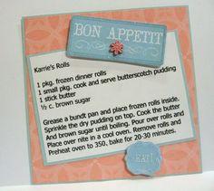 Sweet Butterscotch Rolls recipe card