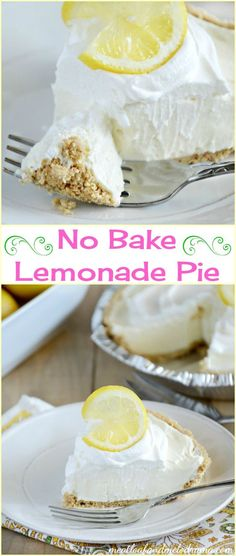 Doesn't this No Bake Lemonade Pie look yummy? A perfect summer dessert for lemon lovers!