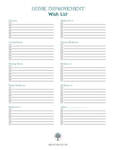 The Big List: Home Improvement Updates Wish List and FREE Printable – Sweet Maple Lane Home improvement tasks checklist Easy Projects, Home Projects, Do It Yourself Home, Improve Yourself, Home Renovation, Home Remodeling, Kitchen Remodeling, Kitchen Sink Interior, Home Binder