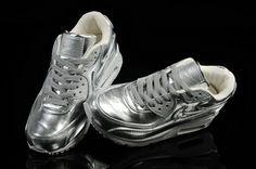 buy popular e91c7 4bdf0 Moda Nike Air Max 90 Plata Blanco Rebajas Zapatillas Nike Joggers, Nike  Shorts, Nike