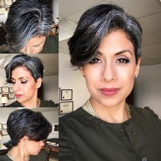 – I was feeling blah last week & having a bad hair day on top of it, then - Modern Grey Hair Young, Grey Hair Looks, Feeling Blah, Grey Hair Inspiration, Grey Hair Don't Care, Hair Heaven, Mom Hairstyles, Bad Hair Day, Grow Hair