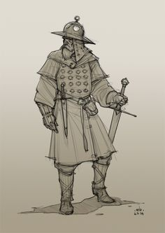 Borislav Mitkov - Illustration/Concept Art: Old Warrior, daily sketch