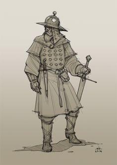Borislav Mitkov - Illustration/Concept Art: Old Warrior, daily sketch