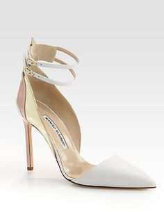 shopstyle.com: Manolo Blahnik Misto Leather Ankle Strap Pumps